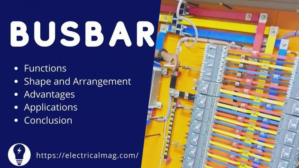 electric busbar used for