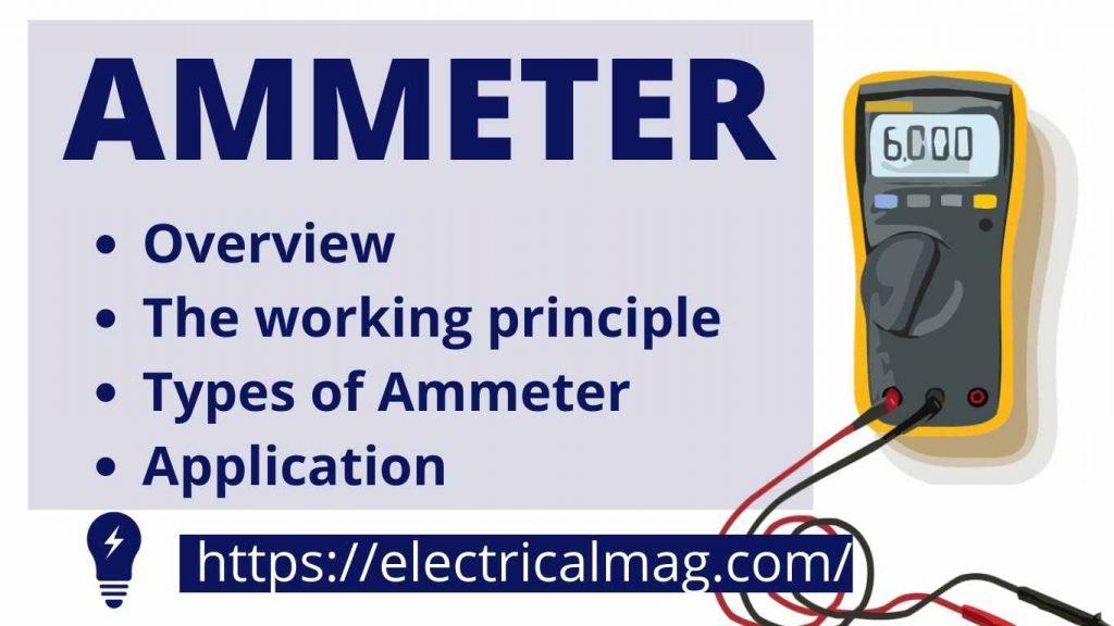 Ammeter use for measuring current.