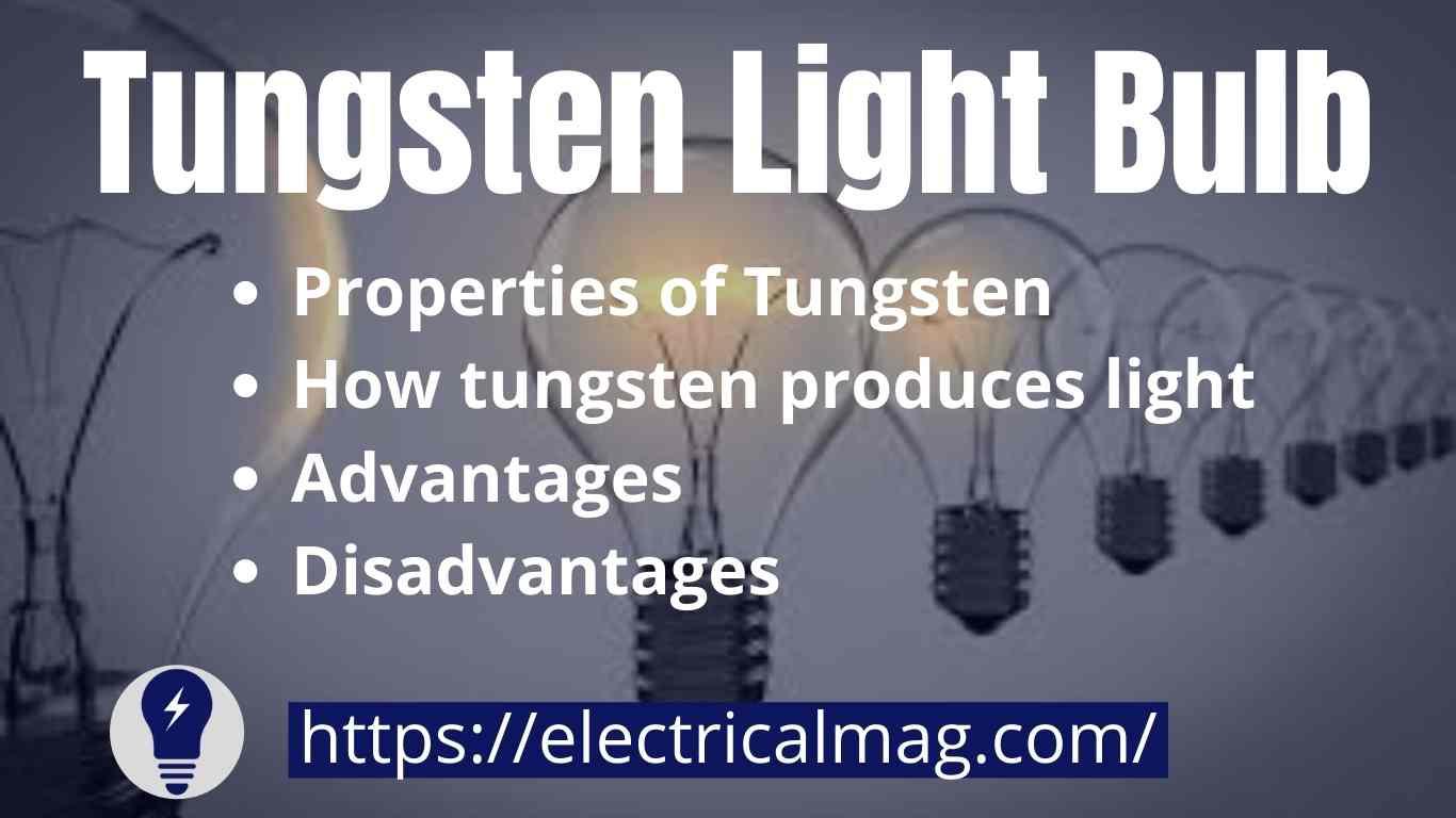 tungsten light bulb color
