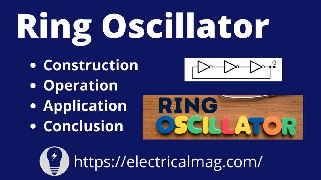 Ring oscillator application