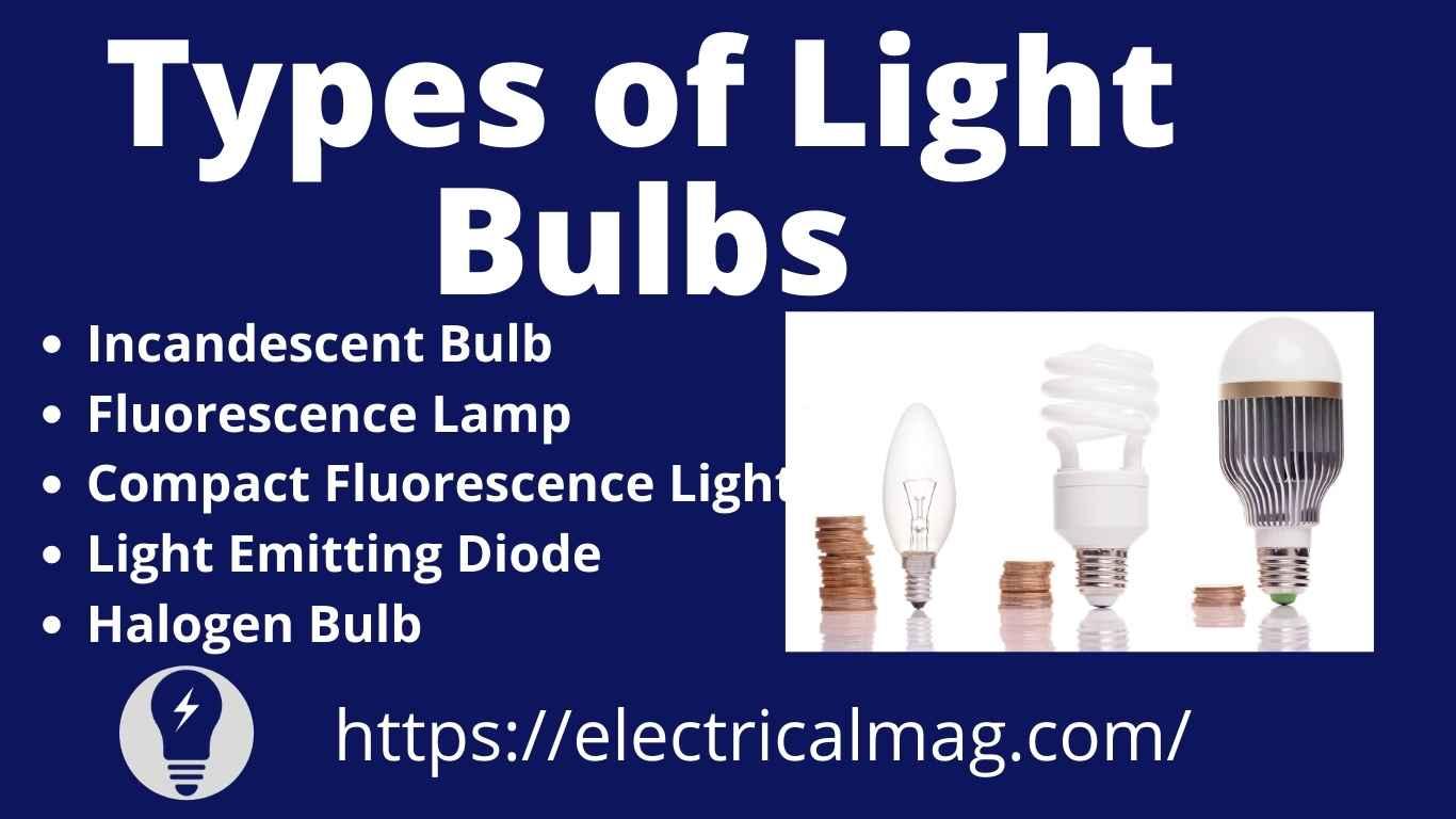 Types of light bulb